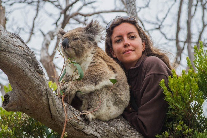 Mireia posando con Koala