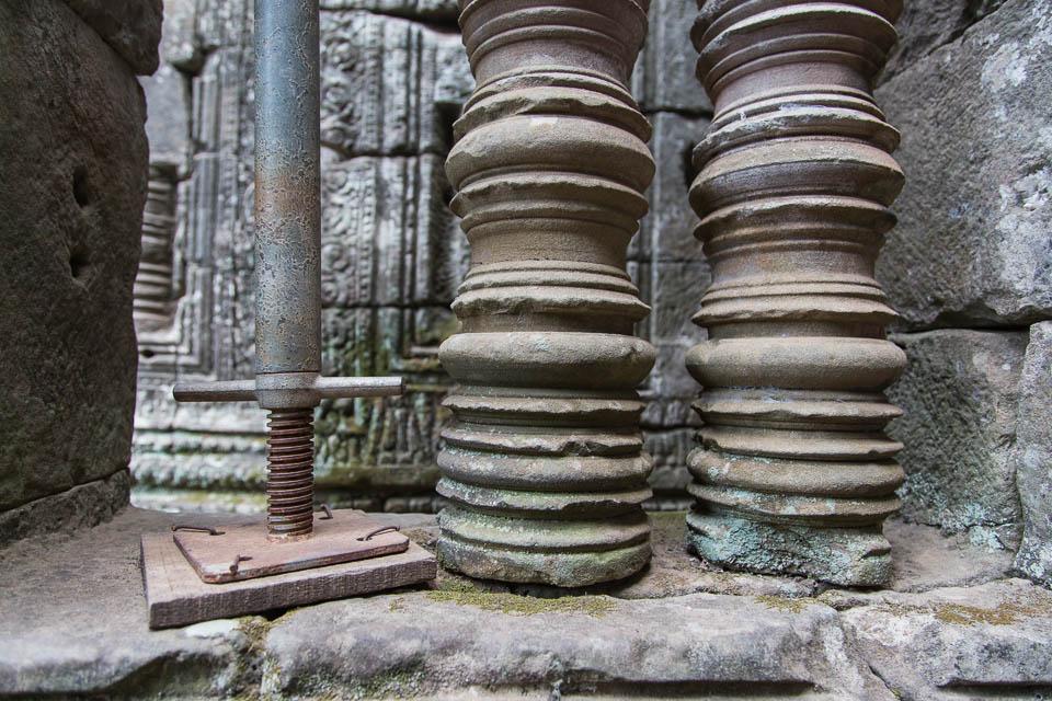 Columnas en restauración