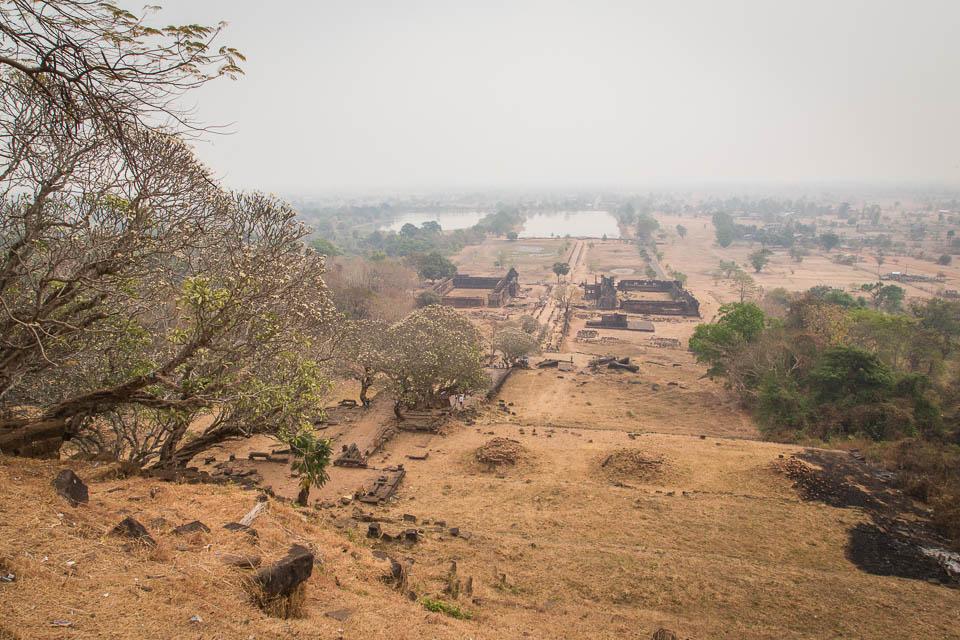 Vat Phu desde la colina.