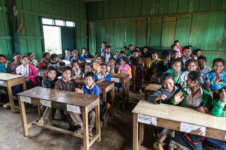 Dentro de la aula.