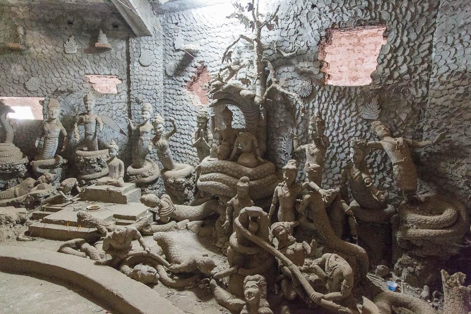 Interior calabaza en Buddha Park.
