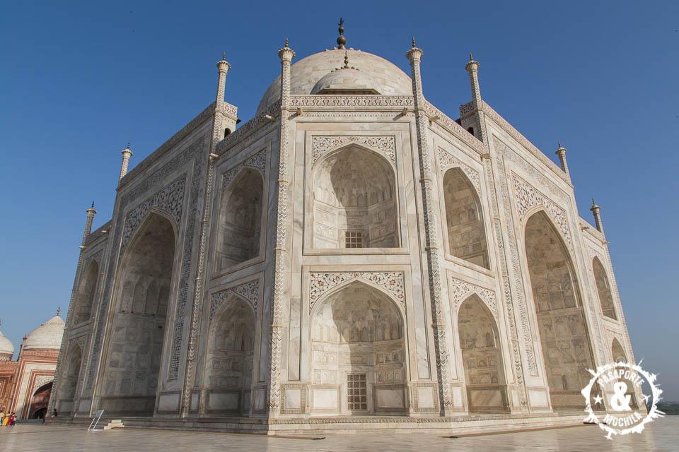 Taj Mahal de cerca.