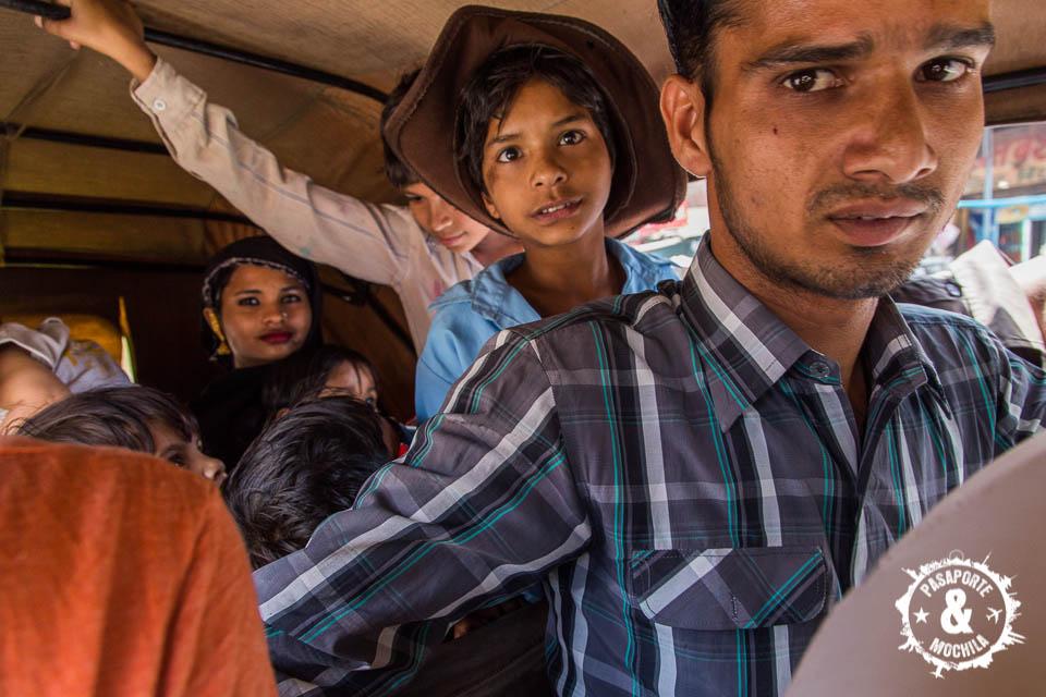 Rickshaw hasta la bandera