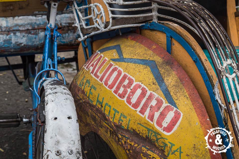 Becak en Malioboro