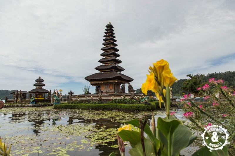 Templo y flor.