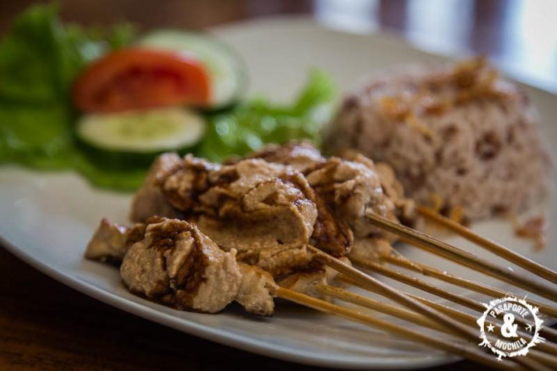 Chicken Satay delicioso.
